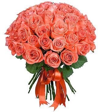 """Букет """"Коралловые розы"""" (25, 51 или 101 роза)"""