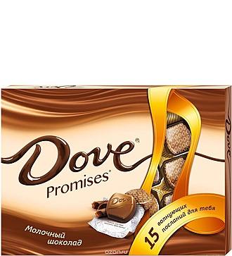 Конфеты DOVE Promises ассорти 120 гр.