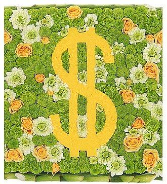 """Цветочная композиция """"Счастливый доллар"""""""