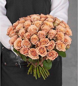 """Букет роз """"Cappucino"""" (25, 51 или 101)"""