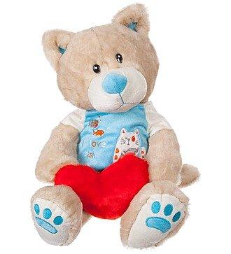 """Мягкая игрушка """"Кот с сердцем"""" (40 см)"""