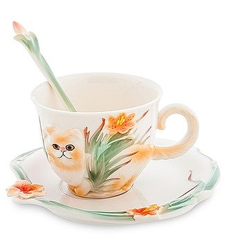 """Чайная пара """"Персидский кот"""" (Pavone)"""