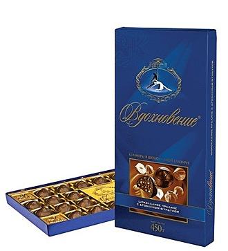 Коробка шоколадных конфет Вдохновение, 400 гр
