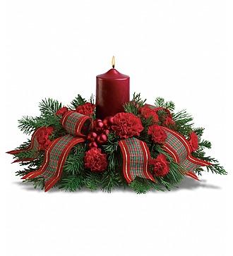 Рождественская композиция со свечой
