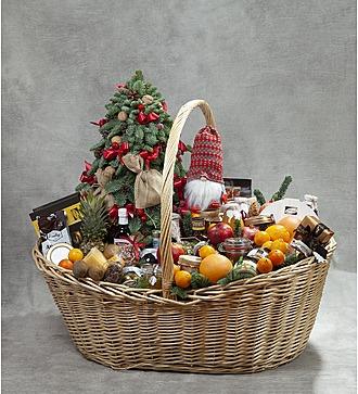 """Подарочная корзина """"Новогодний пир"""""""