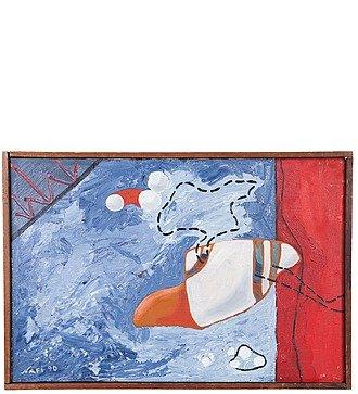 "Картина NAFI ""Попытка контакта"" 1990г. ( холст, масло. 49*74)"