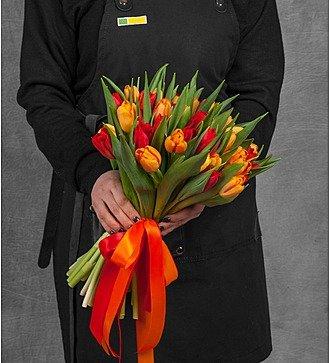 """Букет тюльпанов """"Палитра весны"""" (25, 51 или 101)"""