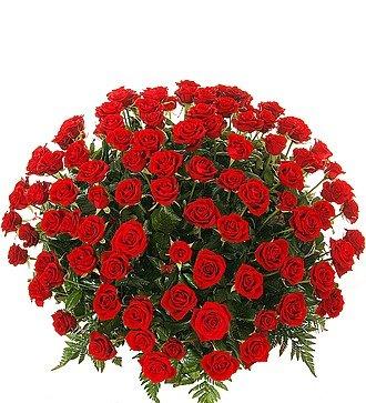 """Композиция """"Пурпурный сонет"""" (51, 101 или 151 роза)"""