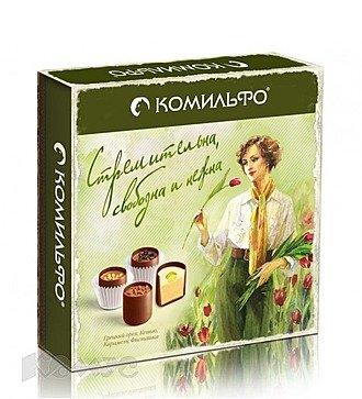 Комильфо, шоколадные конфеты, подарочная упаковка, 232 гр.