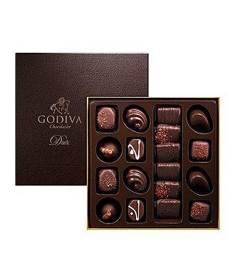Коробка с темным шоколадом Godiva