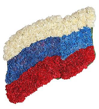 """Композиция """"Развевающийся флаг России"""""""