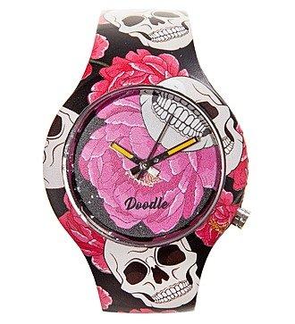 """Часы Doodle """"Череп и Цветы"""""""
