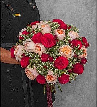 """Букет из пионовидных роз """"Единственная"""" (15, 25 или 51)"""