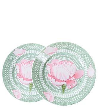 """Подарочный набор из 2-х декоративных тарелок """"Пионы"""" HERMES"""