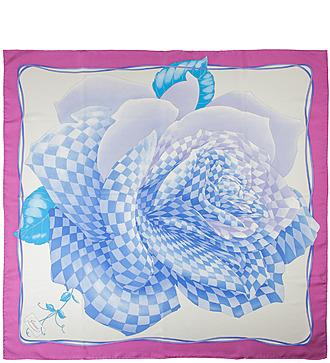"""Шелковый платок GUCCI """"Королевская Роза"""" (Италия, 90х90 см)"""