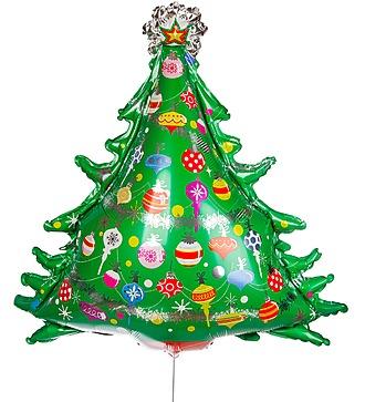 """Воздушный шар """"Новогодняя елка"""" (97 см)"""