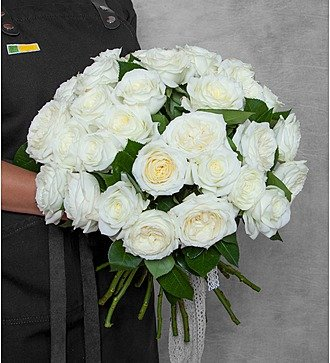 """Букет из пионовидных роз """"Alabaster"""" (15, 25 или 51)"""
