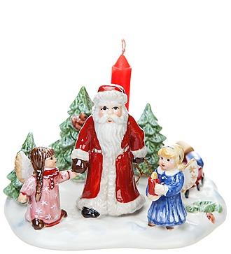 """""""Санта с детьми"""" со свечой (фарфор) (Villeroy&Boch, Франция)"""