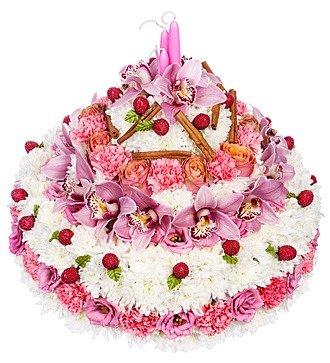 """Композиция """"Цветочный торт"""""""
