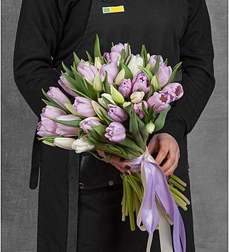 """Букет тюльпанов """"Нежная мелодия"""" (25, 51 или 101 тюльпан)"""