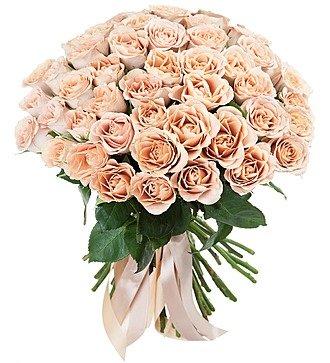 """Букет роз """"Cappucino"""" (51 роза)"""