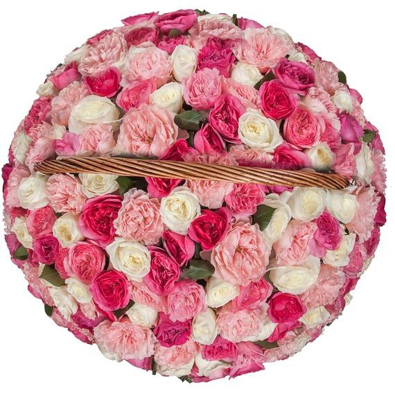 Композиция из пионовидных роз Восторг (101, 201, 301) – фото № 4