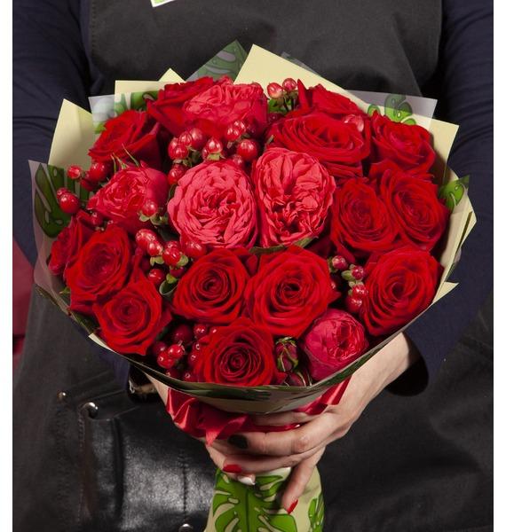Букет-дуэт Ларго роз am 884брошь букет роз латунь янтарь