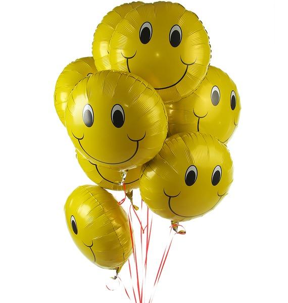 Букет шаров Смайл (9 или 18 шаров) букет шаров россия 9 или 18 шаров