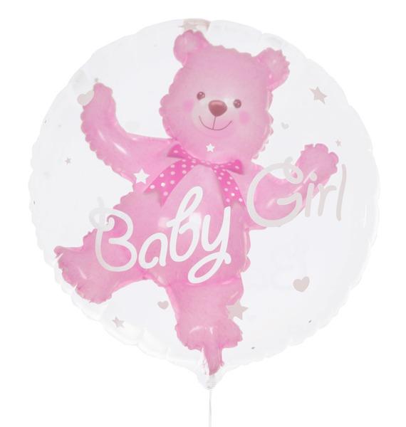Воздушный шар Медвежонок (девочка) (61 см)