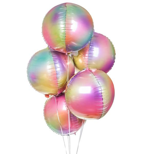 Букет шаров Радужная феерия (5 или 9 шаров)