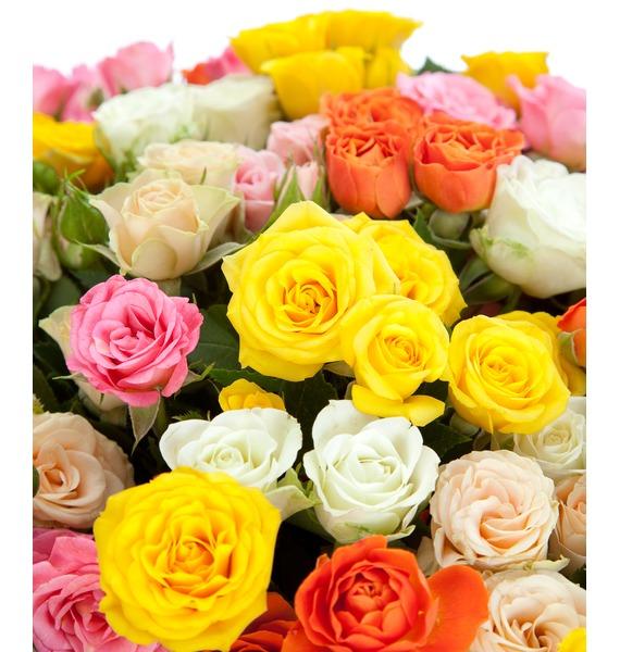 Букет из кустовой розы Огненный – фото № 3