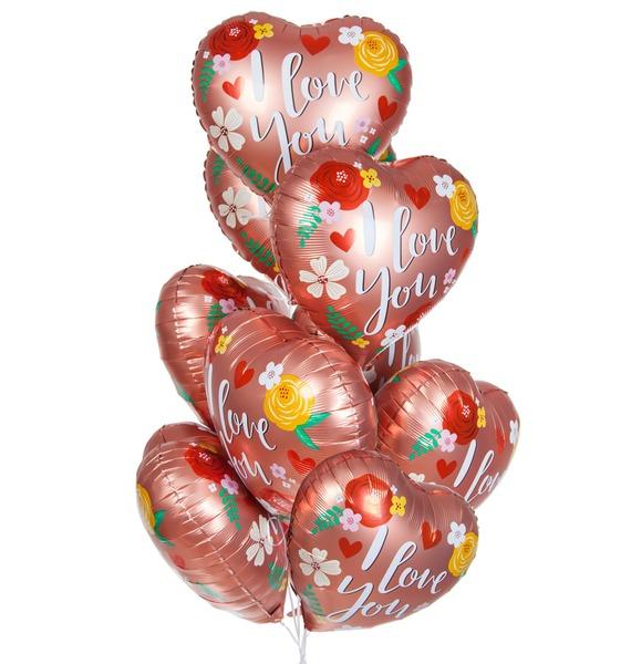 Букет шаров Я люблю тебя! (9 или 18 шаров) букет шаров россия 9 или 18 шаров