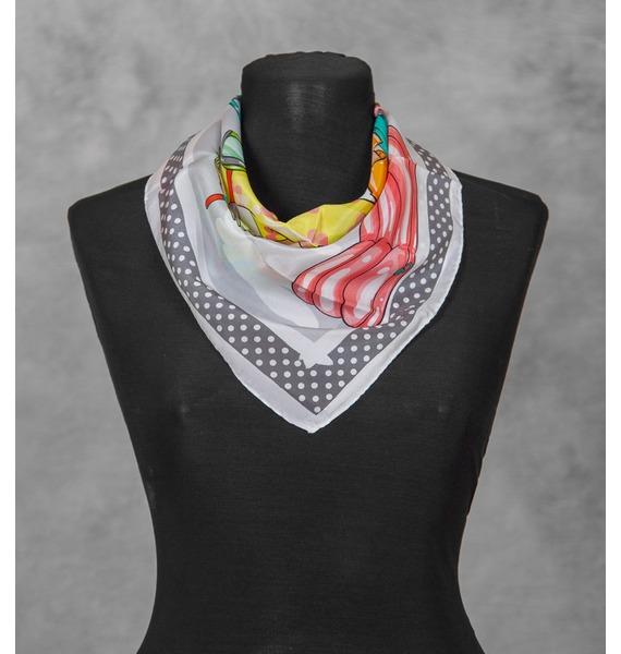 Шелковый платок MOSCHINO Круиз (Италия, 50х50 см) – фото № 1