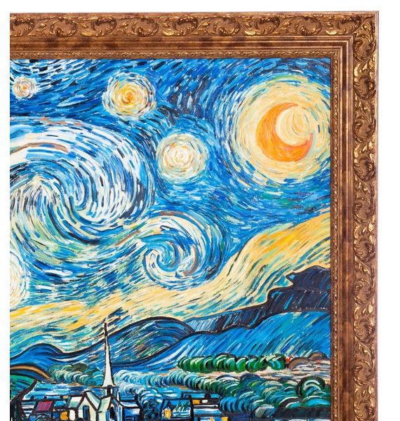 Картина В. Ван Гога Звёздная ночь (110х90см.) – фото № 3