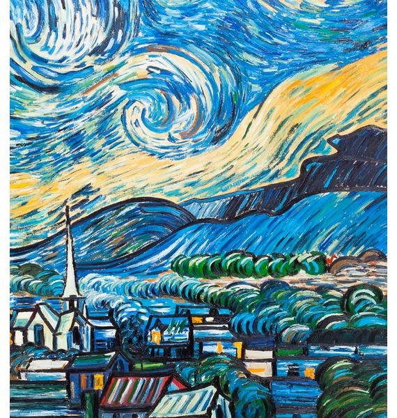 Картина В. Ван Гога Звёздная ночь (110х90см.) – фото № 2