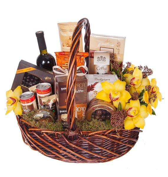 Подарочная корзина Всё в шоколаде (Красное вино в подарок) – фото № 5