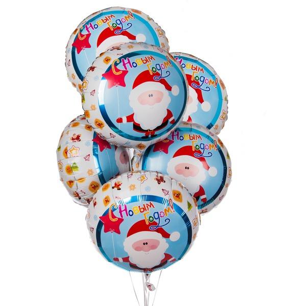Букет шаров Долгожданный праздник (7 или 15 шаров) – фото № 1