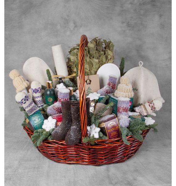 Подарочная корзина Зимняя забава (Игристое вино в подарок) – фото № 1