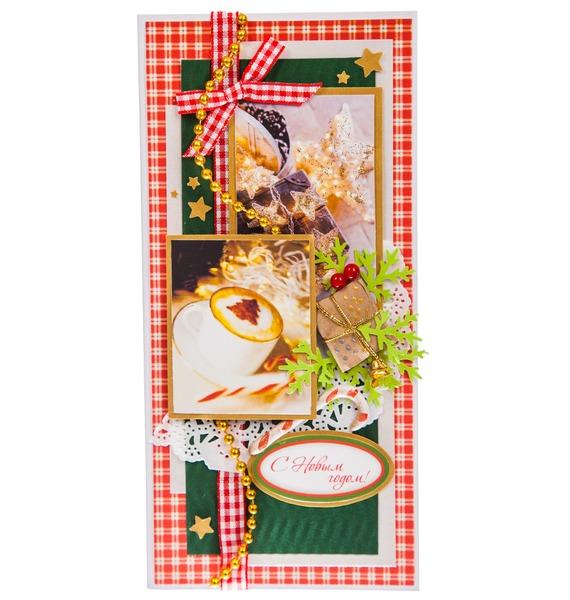 Открытка ручной работы С Новым Годом! открытка конверт с новым годом студия тётя роза онг 0008