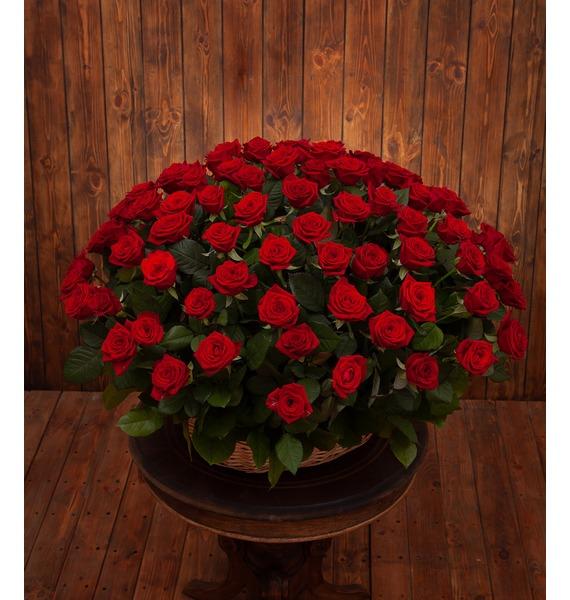 Композиция Пурпурный сонет (51, 101 или 151 роза)