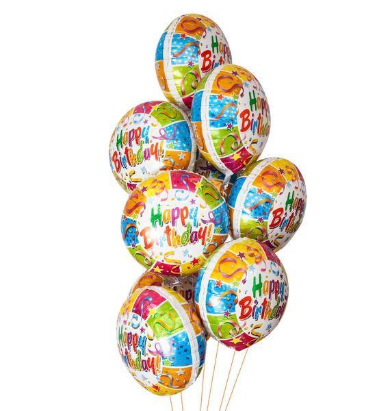 Букет шаров Вечеринка (9 или 18 шаров) – фото № 1