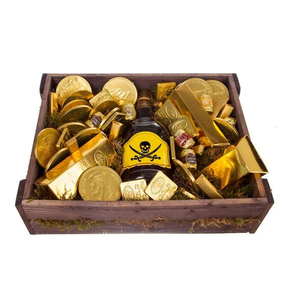Подарочное кашпо Сокровище пиратов (Бренди в подарок) – фото № 4