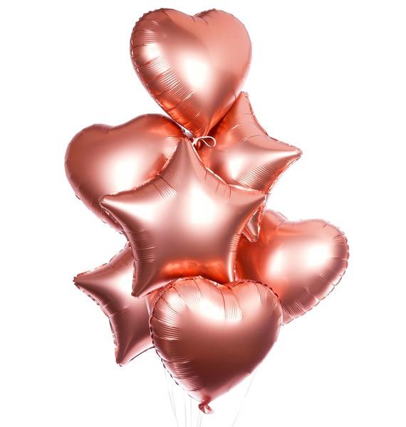 Букет шаров Розовое золото (7 или 15 шаров) – фото № 1