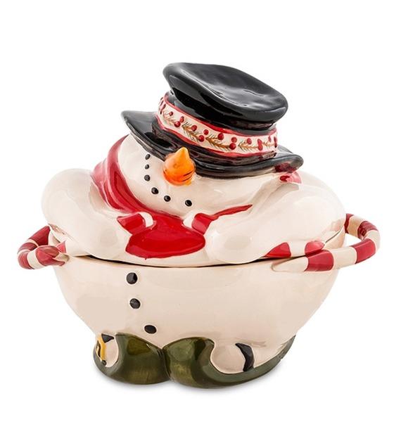 Конфетница Снеговик (Pavone)