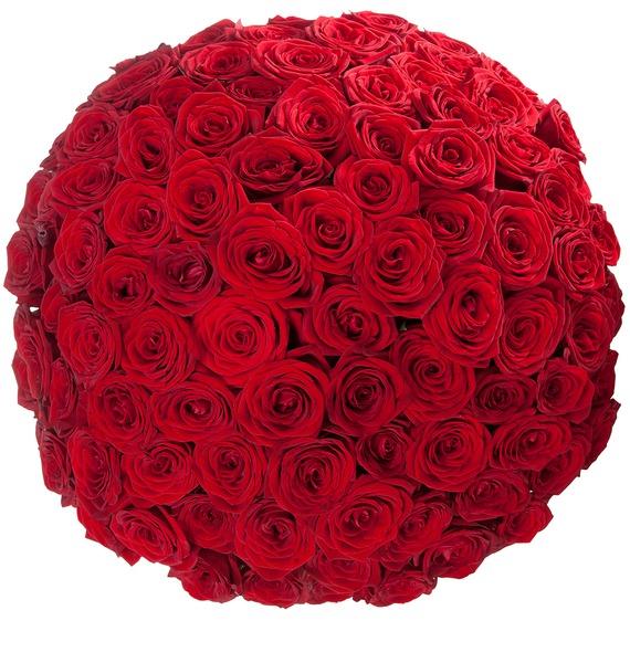 Букет из 101 розы Царский подарок – фото № 4