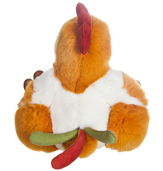Игрушка из натурального меха Петушок – фото № 4