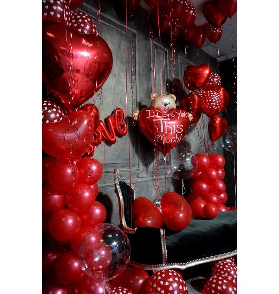 Оформление шарами в стиле Любовь! – фото № 4