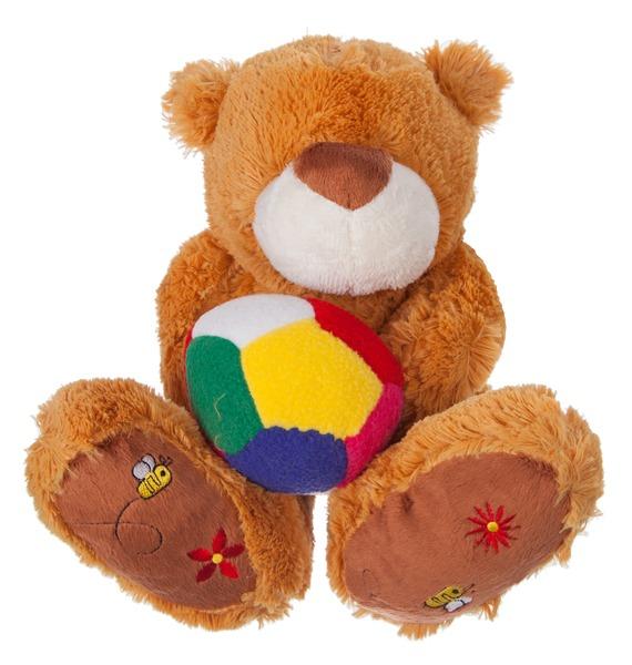 Мягкая игрушка Мишка Бигфут с мячом (25 см) magic bear toys мягкая игрушка собака мальчик с мячом 23 см