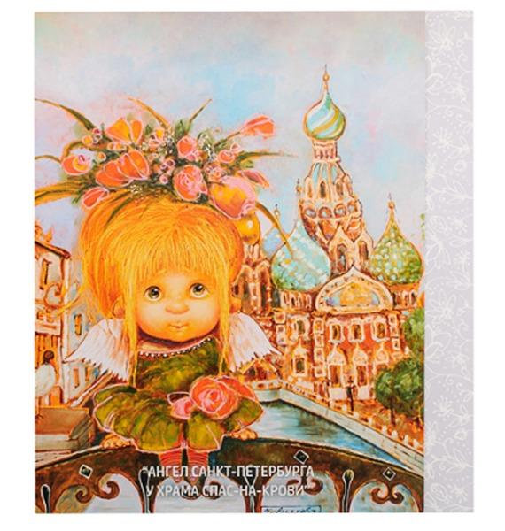 Открытка Ангел у Спаса на крови шкатулка санкт петербург храм спаса на крови 6 х 4 см ручная авторская работа