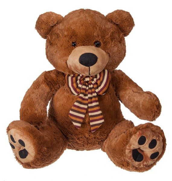 Мягкая игрушка Медведь Шоколад с бантом (50 см) мягкая игрушка медведь пузатый большой нижегородская игрушка см 377 5